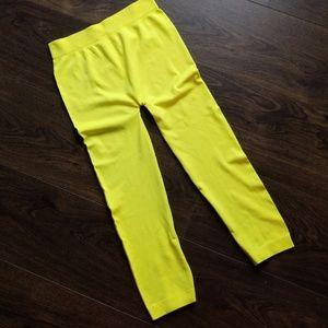 Neon Yellow Capri Tights